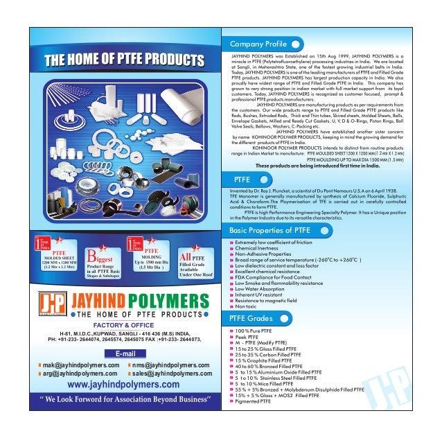 Company Profile                                                       PTFE                                                ...
