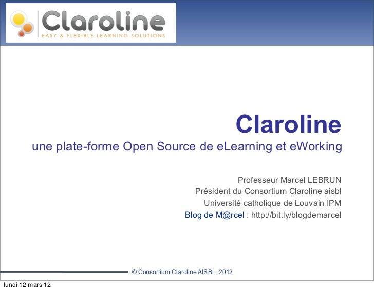 plateforme claroline