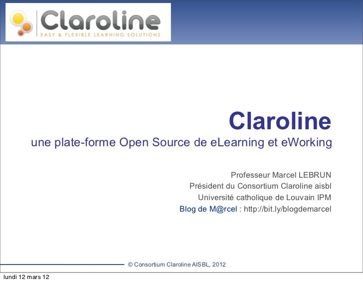 CLAROLINE.NET                   Let's build knowledge together                                                            ...