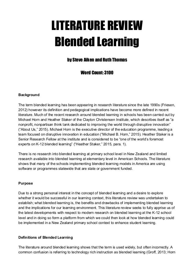 assessment for learning literature review