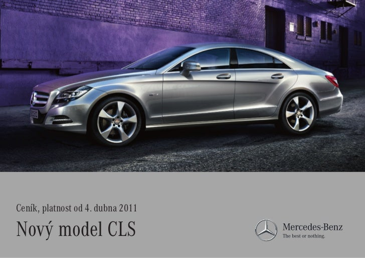 Ceník, platnost od4. dubna 2011Nový model CLS