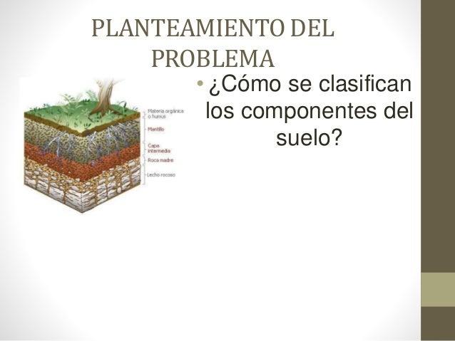 Clsaificacion de los componentes del suelo for Componentes quimicos del suelo