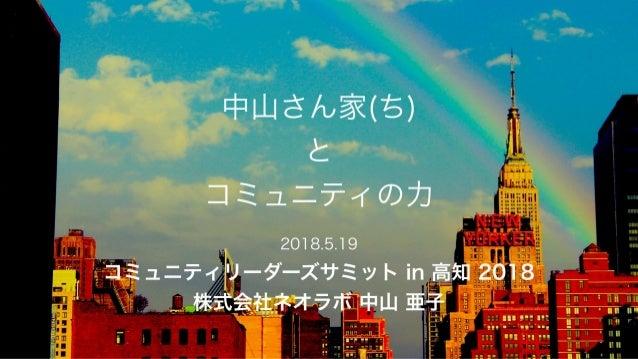 コミュニティリーダーズサミット in 高知 2018