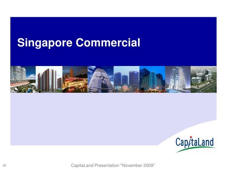 Capitaland Slides Morgan Stanley Nov09