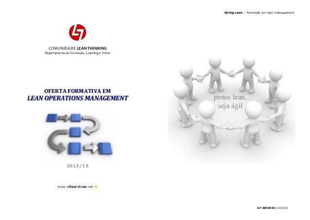 Going Lean – formação em lean management                              Going Lean – formação em lean management            ...