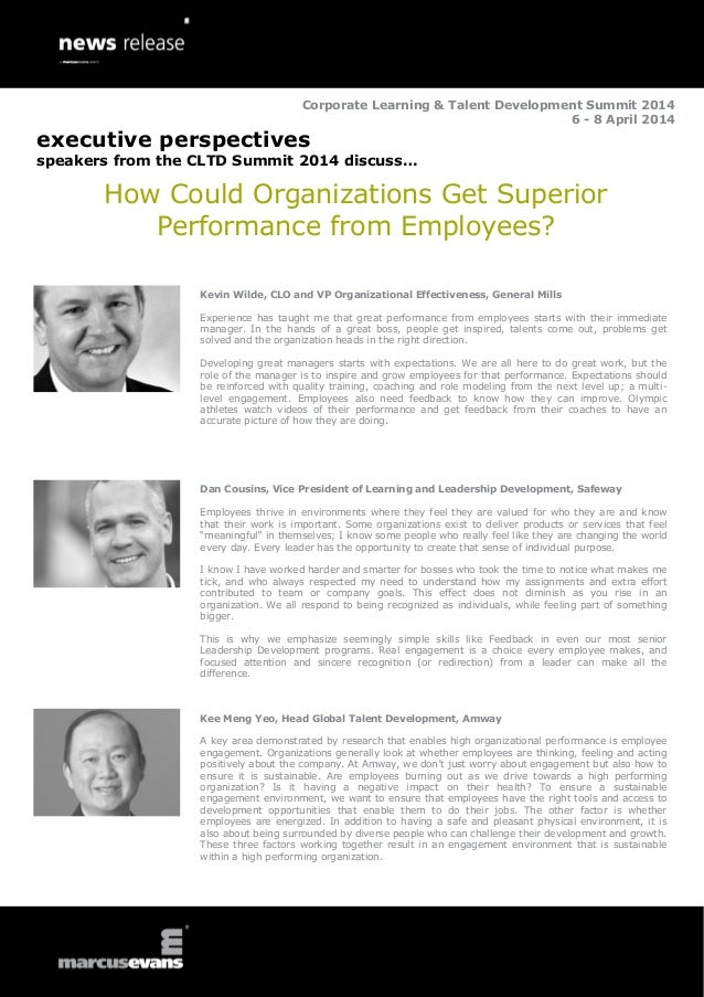 Corporate Learning & Talent Development Summit 2014 6 - 8 April 2014  executive perspectives speakers from the CLTD Summit...