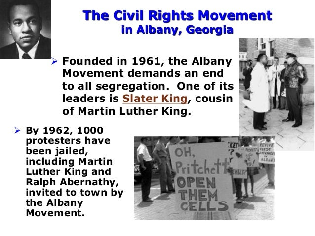 The Civil Rights Movement in Albany, Georgia  Founded in 1961, the Albany Movement demands an end to all segregation. One...