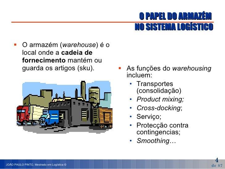 O PAPEL DO ARMAZÉM  NO SISTEMA LOGÍSTICO <ul><li>O armazém ( warehouse ) é o local onde a  cadeia de fornecimento  mantém ...