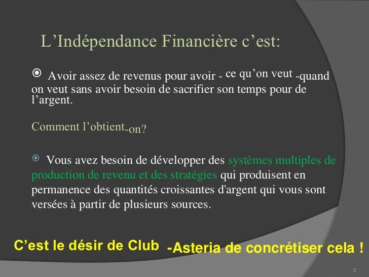 Club Asteria-Business-Présentation-en-Francais Slide 2