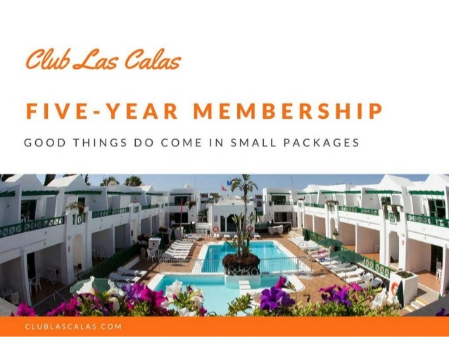Club Las Calas 5-year membership programme 2018