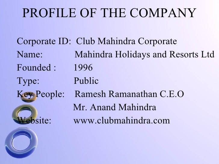 Mahindra and mahindra business overview