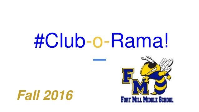 #Club-o-Rama! Fall 2016