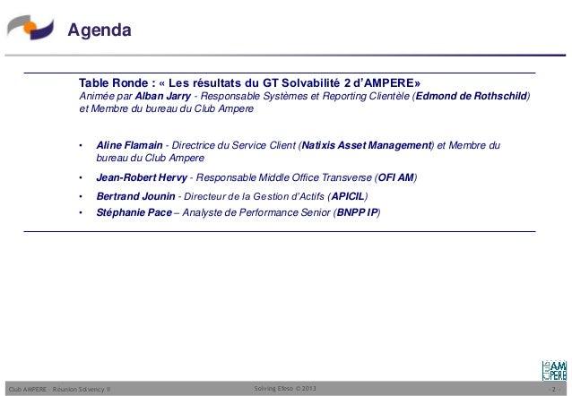 Club ampere table ronde de la pr sentation de la normalisation des - Responsable middle office ...