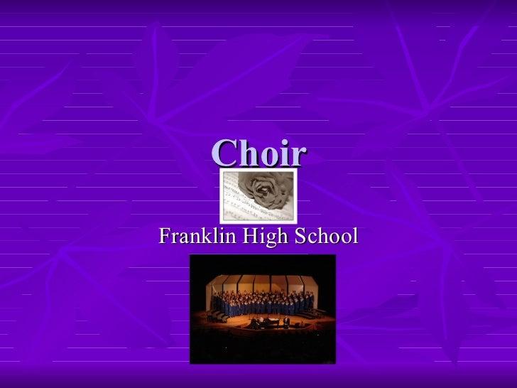 Choir Franklin High School