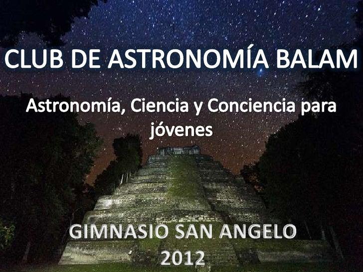Club de astronomia balam