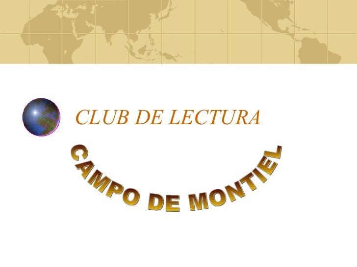 CLUB DE LECTURA CAMPO DE MONTIEL