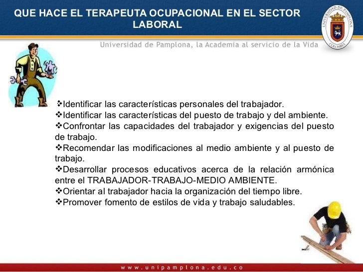 Intervención de Terapia Ocupacional en industria