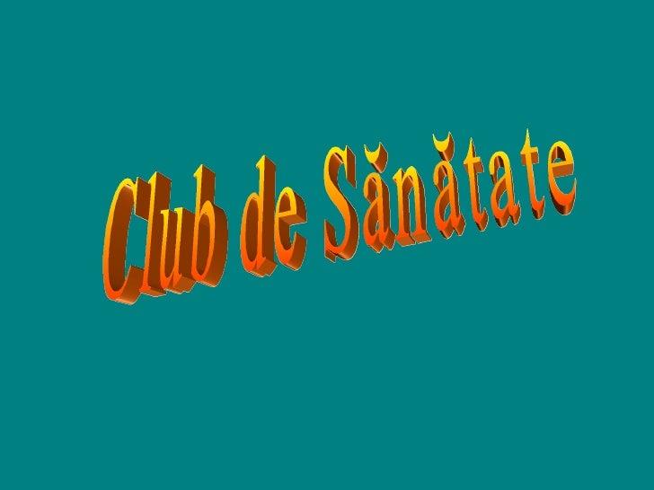 Club de Sănătate