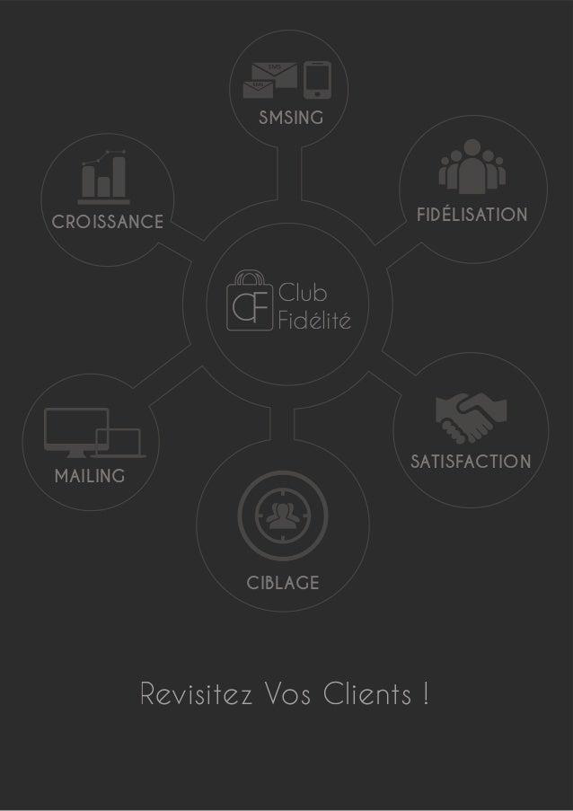 Revisitez Vos Clients ! Club Fidélité SATISFACTION CIBLAGE MAILING CROISSANCE SMSING FIDÉLISATION