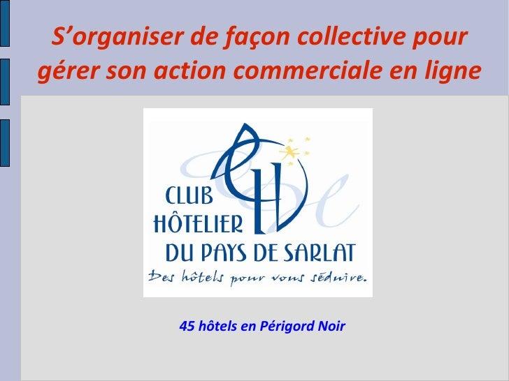 S'organiser de façon collective pour gérer son action commerciale en ligne 45 hôtels en Périgord Noir