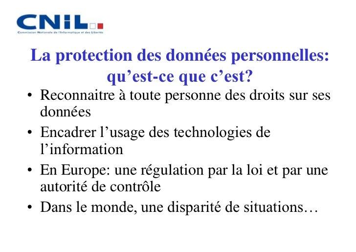 Internet et la protection des données personnelles  Slide 2
