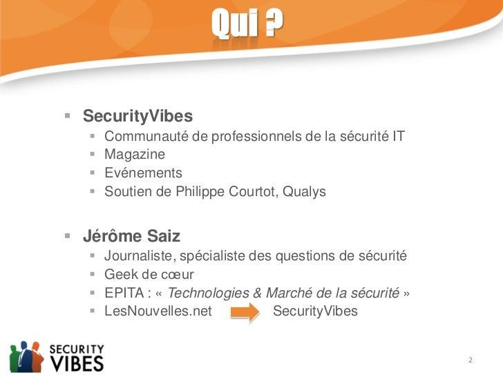 Les défis de la sécurité informatique en 2012. Slide 2