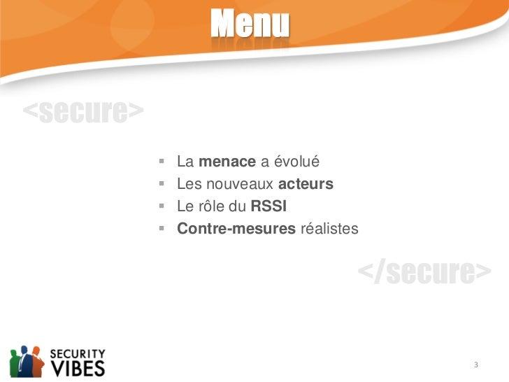 Les défis de la sécurité informatique en 2012. Slide 3
