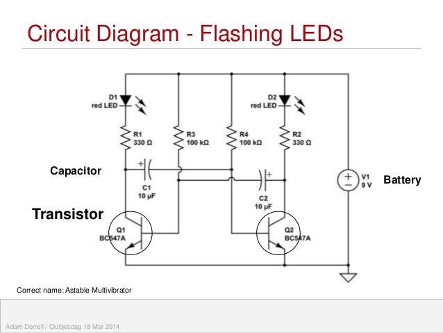 flashing eye robot teaching electronic circuits rh slideshare net Schematic Circuit Diagram Electronic Siren Circuit