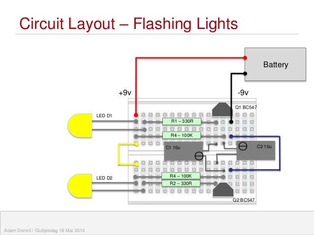 Flashing Eye Robot / Teaching Electronic Circuits