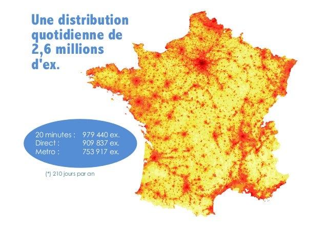 Une distribution quotidienne de 2,6 millions d'ex.  20 minutes : Direct : Metro :  979 440 ex. 909 837 ex. 753 917 ex.  (*...