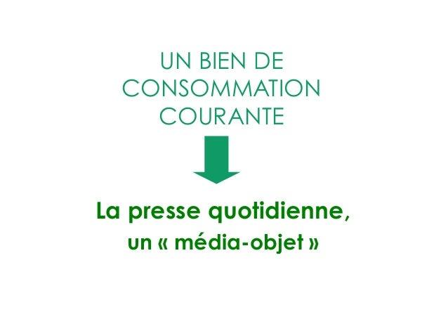 LA FORCE DE L'ÉCRIT  La presse quotidienne, média de confiance