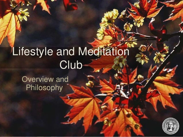Lifestyle and Meditation Club Overview and Philosophy