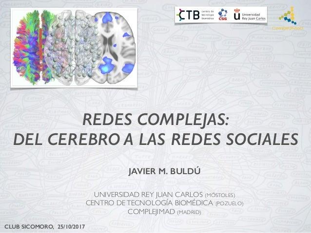 REDES COMPLEJAS: DEL CEREBRO A LAS REDES SOCIALES JAVIER M. BULDÚ UNIVERSIDAD REY JUAN CARLOS (MÓSTOLES) CENTRO DETECNOLOG...