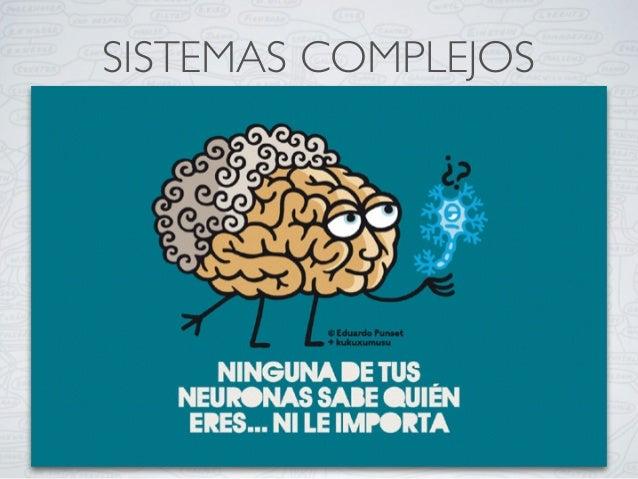 SISTEMAS COMPLEJOS Un sistema complejo está formado por partes interrelacionadas que, como conjunto, exhiben propiedades y...