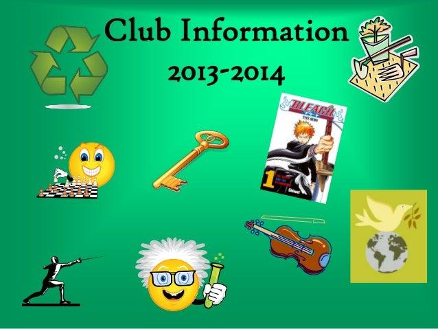 Club Information 2013-2014