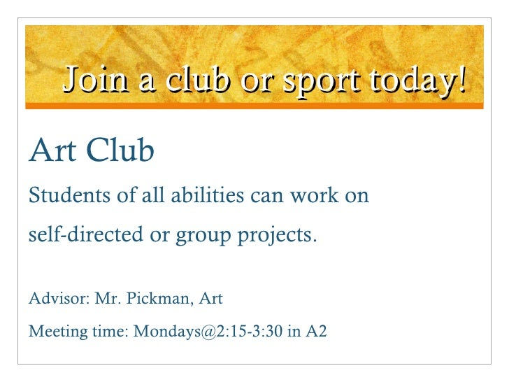 Art Club Group Projects
