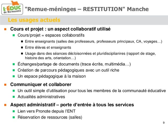Les usages actuels  Cours et projet : un aspect collaboratif utilisé  Cours/projet = espaces collaboratifs  Entre ensei...