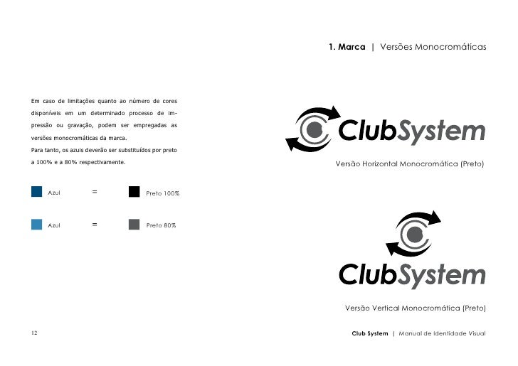 Manual de Identidade Visual ClubSystem
