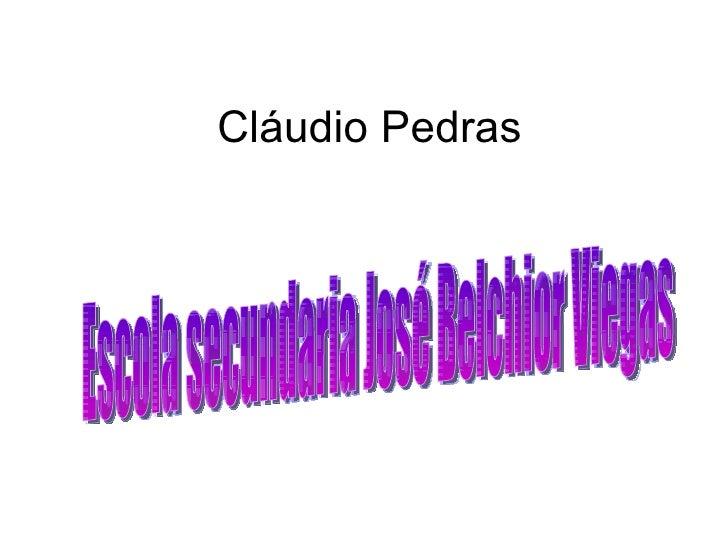 Cláudio Pedras Escola secundaria José Belchior Viegas