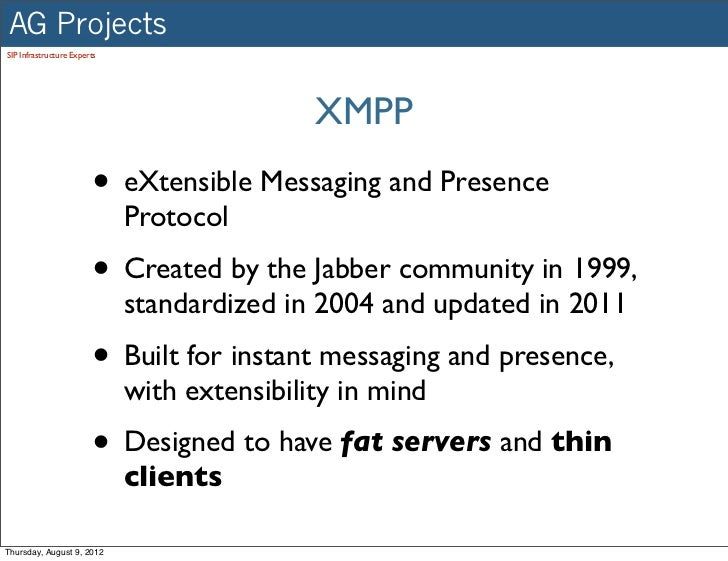Extensible Messaging And Presence Protocol : Extensible messaging and presence protocol xmpp instant