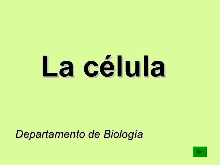 La célula   Departamento de Biología