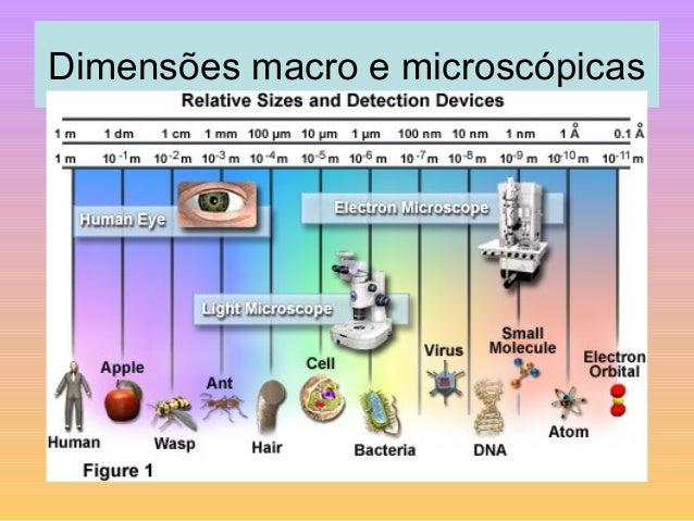 Dimensões macro e microscópicas