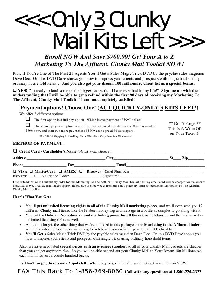 <<< Only 3 Clunky     Mail Kits Left >>>                   Enroll NOW And Save $700.00! Get Your A to Z                 Ma...
