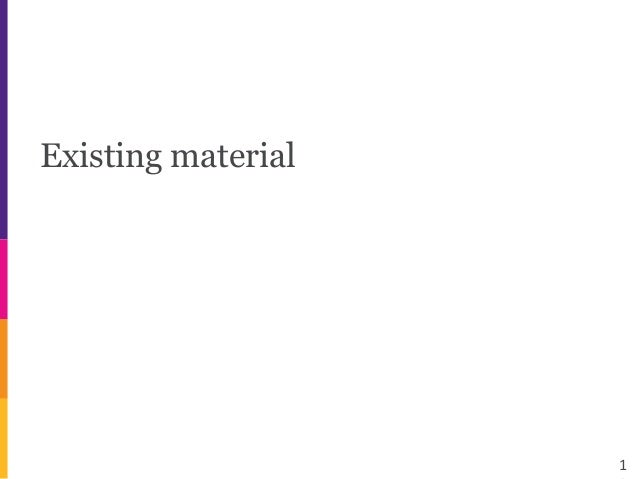 Existing material 1