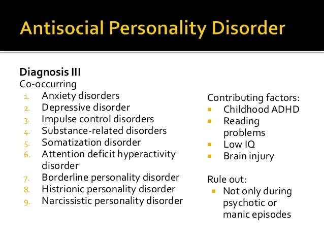 Cluster B Personality Disorders for NCMHCE Study