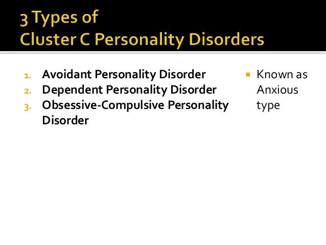 a study on avoidant personality disorder Avoidant personality disorder treatment avoidant personality disorder was added to dsm-iii american psychiatric association 1980) in 1980 and has a shorter history.