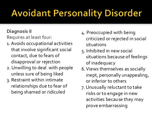Cluster C Personality Disorders for NCMHCE Study