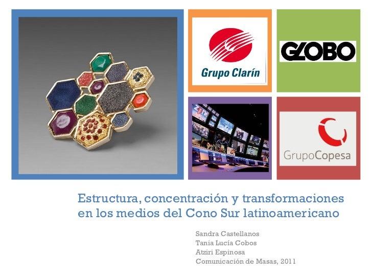 Estructura, concentración y transformaciones en los medios del Cono Sur latinoamericano Sandra Castellanos Tania Lucía Cob...