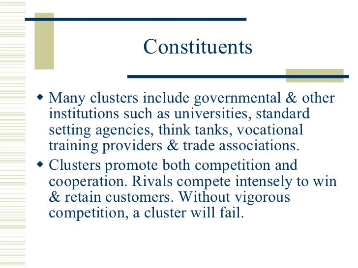 clusters and the new economics of Fast changing economic environment has led exporting to be evolved as one of the fastest growing economic activities in the recent times however, in this highly competitive global era exporting firms have to overcome several barriers in achieving superior performance in the international markets.