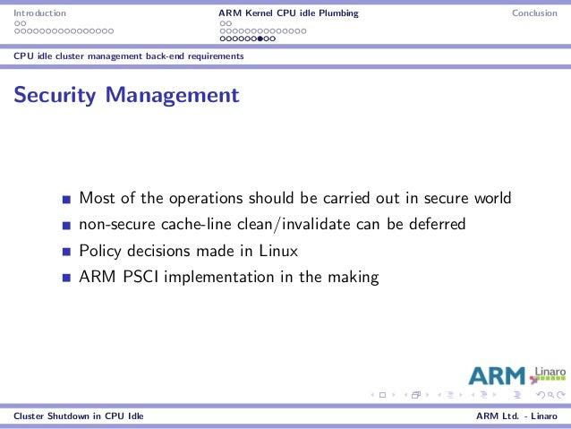 LCE12: Cluster Shutdown in CPU Idle
